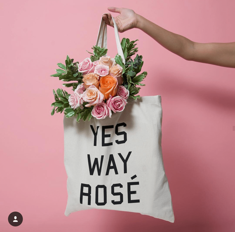 Rosé Day Tote- See our favorite Rosé Party Ideas on B. Lovely Events!