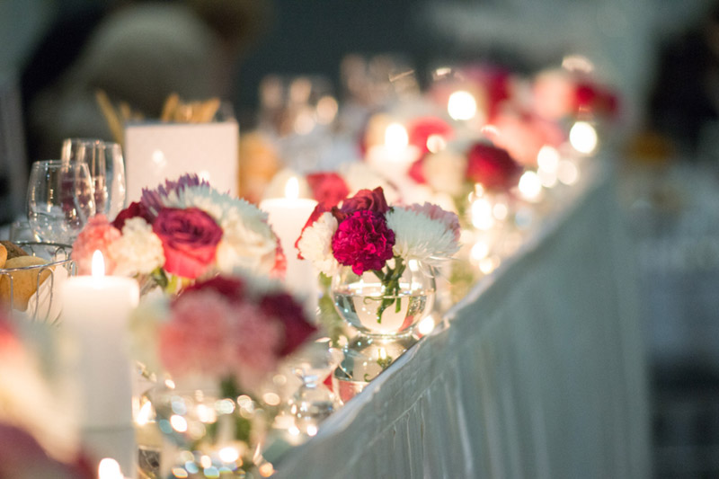 Head Table Decoration Ideas {Real Wedding} Katrina & Leigh's Gorgeous Firework Wedding - See the details on B. Lovely Events