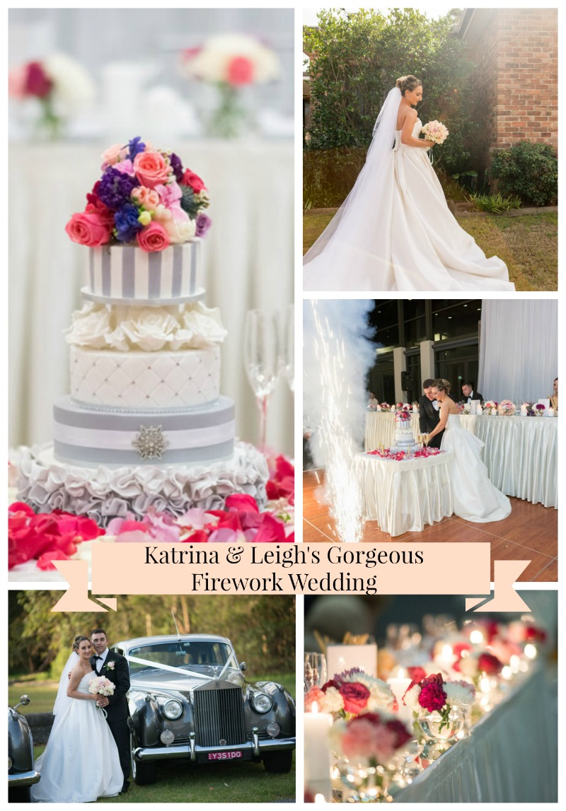 {Real Wedding} Katrina & Leigh's Gorgeous Firework Wedding- See the details on B. Lovely Events