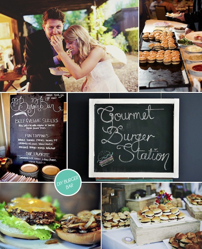 Diy Wedding Reception Food Ideas: Hot Dog And Burger Bars