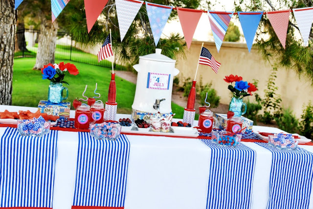 4th of July fun and festive dessert table