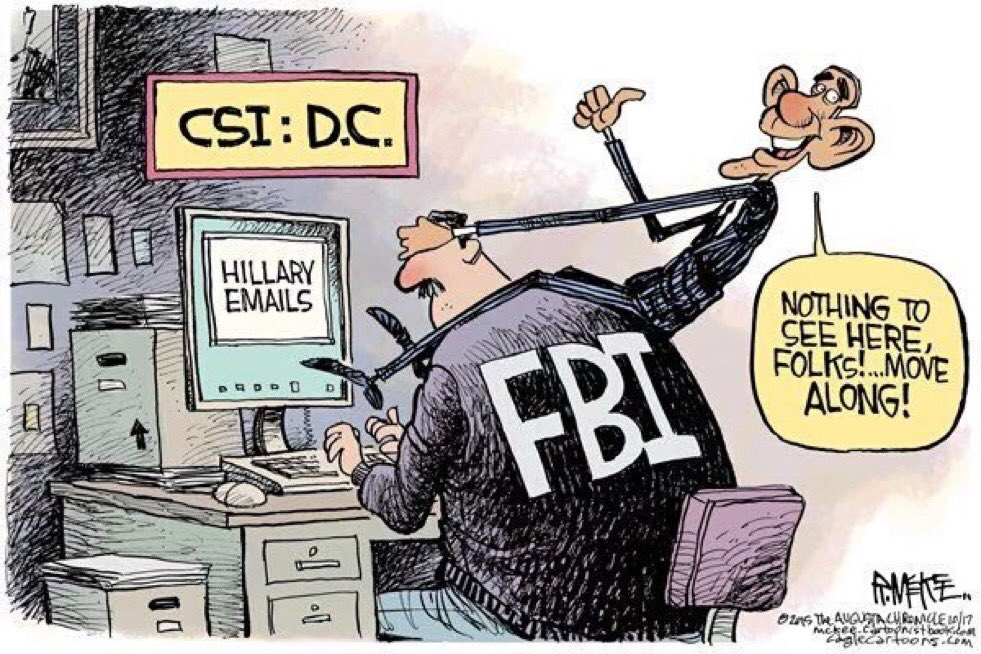 Image result for cartoons obama clinton email not indicted