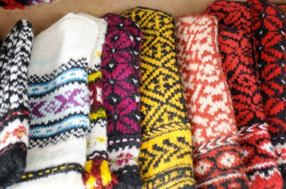 Handmade wool gloves