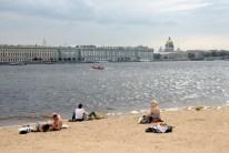 Beach with wiev on Hermitage