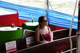 Fede on the taxi boat