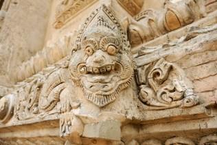 Craved stucco dragon