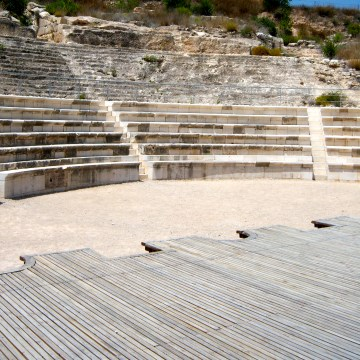 """The Roman theater at Sepphoris. It could be asked, """"Did Jesus go to the theater?"""" Again, no textual proof, but where else would he have developed his understanding of """"hypocrites"""" (Matthew 6:2, 5), which is Greek for """"stage-actors""""? Fun to wonder."""