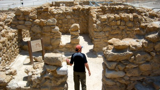 Partially reconstructed walls of Qumran compound