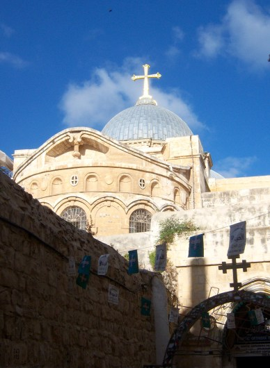 Our first view of the Church of the Holy Sepulchre