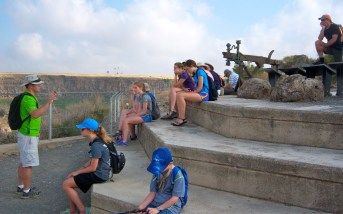 We sat for a minute, overlooking the Gamla hilltop, and learned a bit about the historian Josephus, whose account we have of what happened at Gamla.