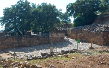 """These are the partially-reconstructed city gates of an older city built on the same site. City gates are more than just the door into the city, but a maze of walls and storerooms and plazas, where much of the economic and social life of a village took place. This is why, in Ruth 4, Boaz goes to the city gates to wait for his kinsman to """"redeem"""" Ruth. Elders would have sat together in these little alcoves in the gates to discuss such matters, and arbitrate disputes, and conduct business."""