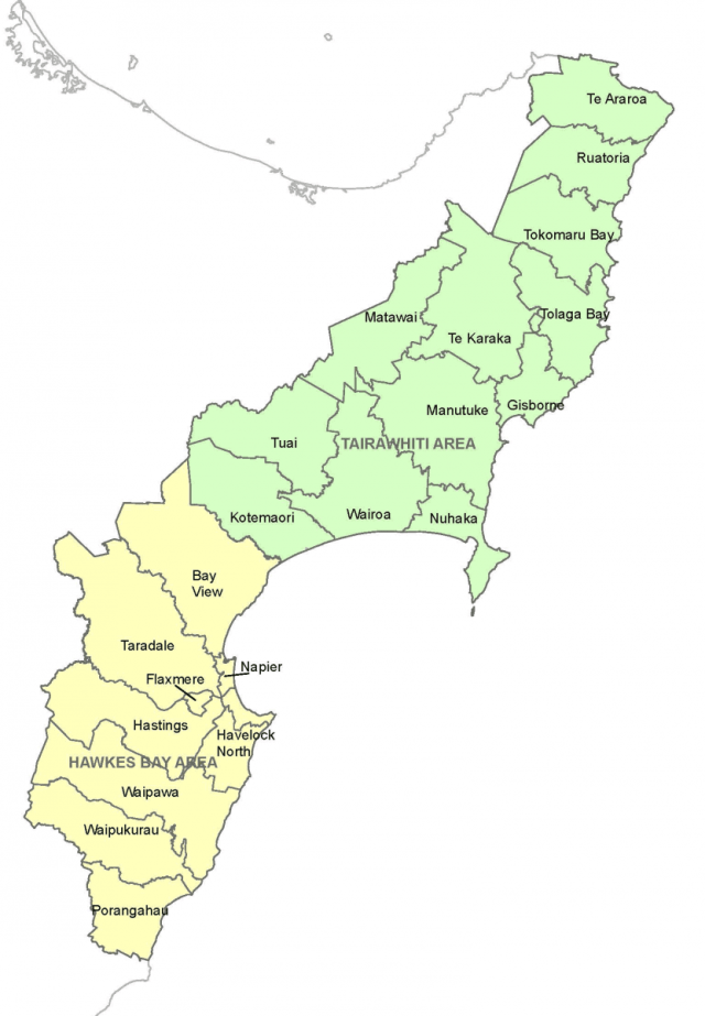 New Zealand Police is divided into 12 districts, 9 in the North Island and 3 in the South. Each district is divided into areas and has a central station from which subsidiary and suburban stations are managed.