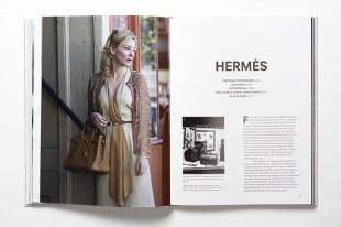 """Páginas dedicas a la firma Hermès en """"Fashion in Film""""."""
