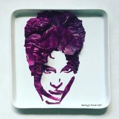 """""""Prince"""" de repollo púrpura."""