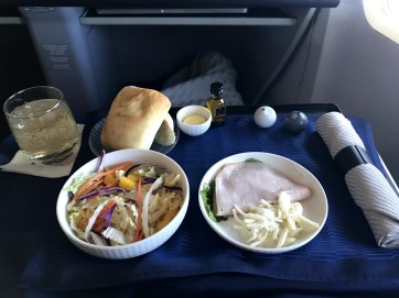 Smoked Chicken App with standard United salad