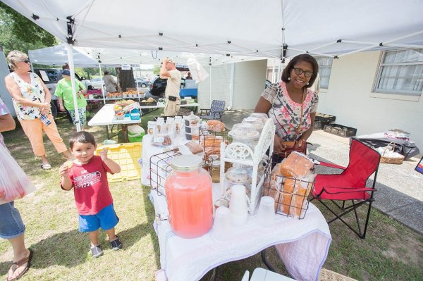 Locally grown produce, fresh baked goods, arts and crafts ...
