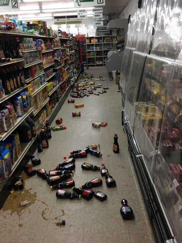 Damage Resulting from the Lincoln, Montana Earthquake in the Local Lincoln Store