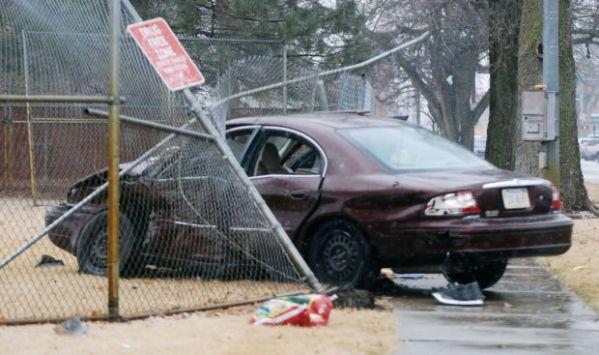 Car crashes through middle school fence | Local ...