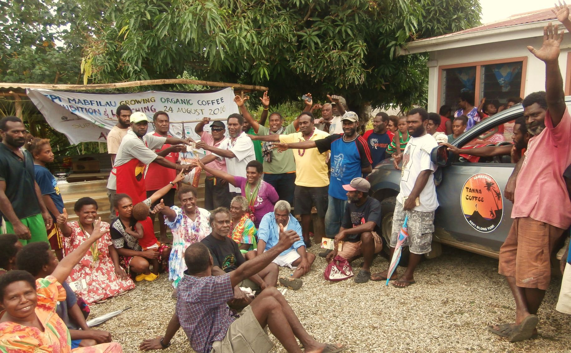 Epi coffee farmers make first harvest, Republic of Vanuatu