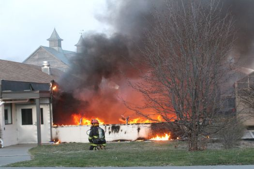 Greenhouse destroyed by fire at Cornell Agritech in Geneva
