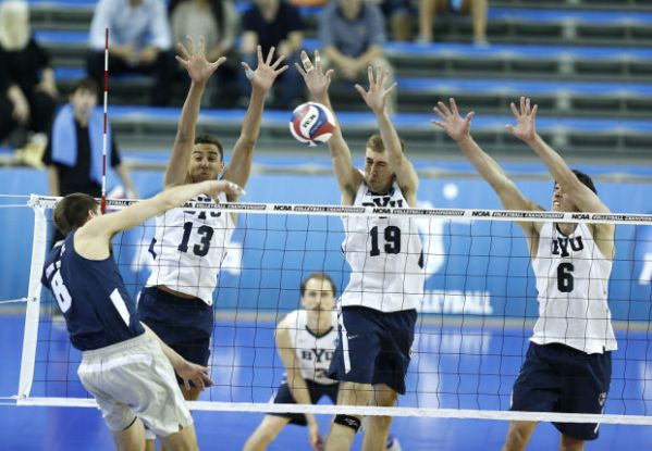 No. 1 BYU men's volleyball advances to national ...