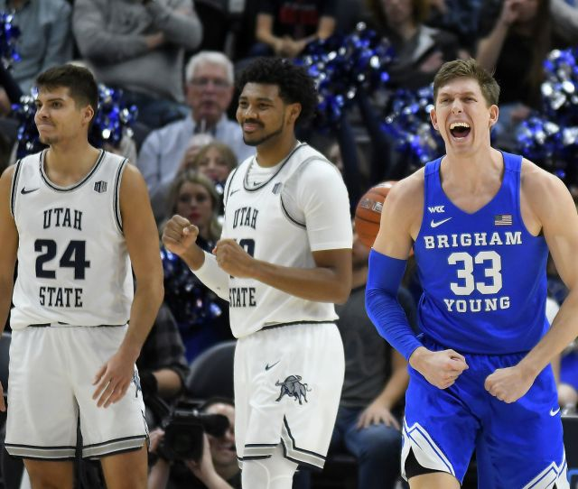 Cougars Hold Off Aggies In Final Beehive Classic Usu Sports