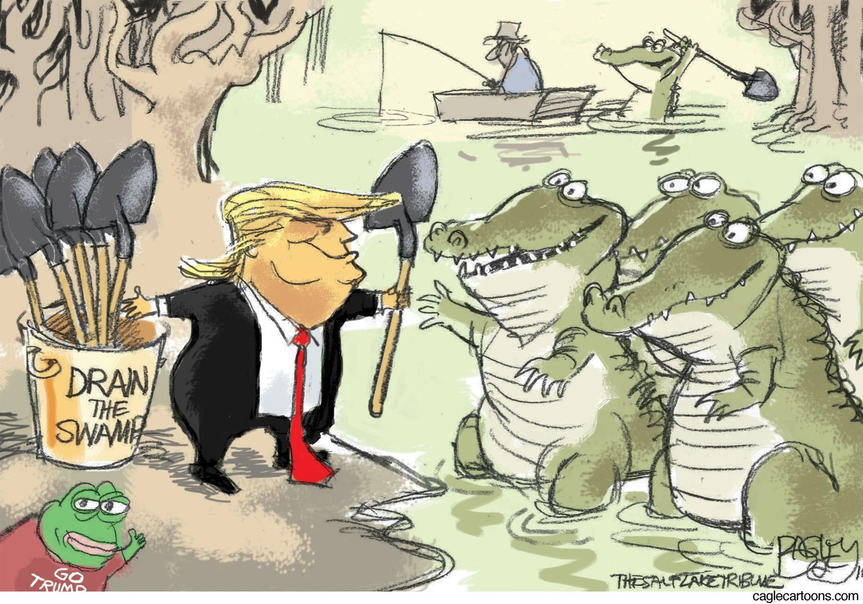 Image result for draining the swamp cartoon