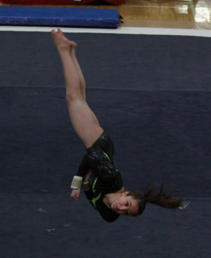 WIAA State Gymnastics Madison Memorials Caroline Smith
