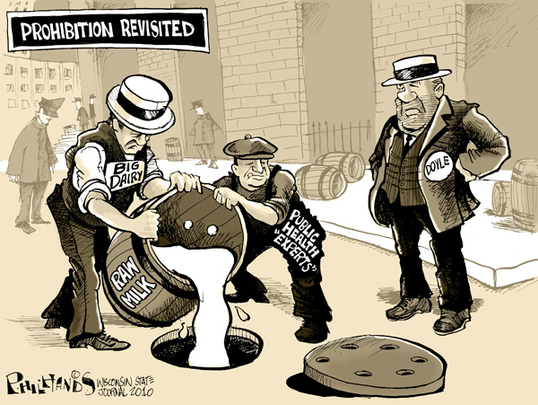 Hands on Wisconsin  Bootlegging raw milk   Opinion   madison com Hands Cartoon  Prohibition Revisited