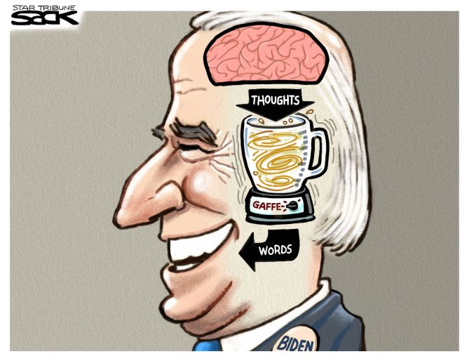 Joe Biden's gaffes explained, in Steve Sack's latest political cartoon |  Opinion | Cartoon | madison.com