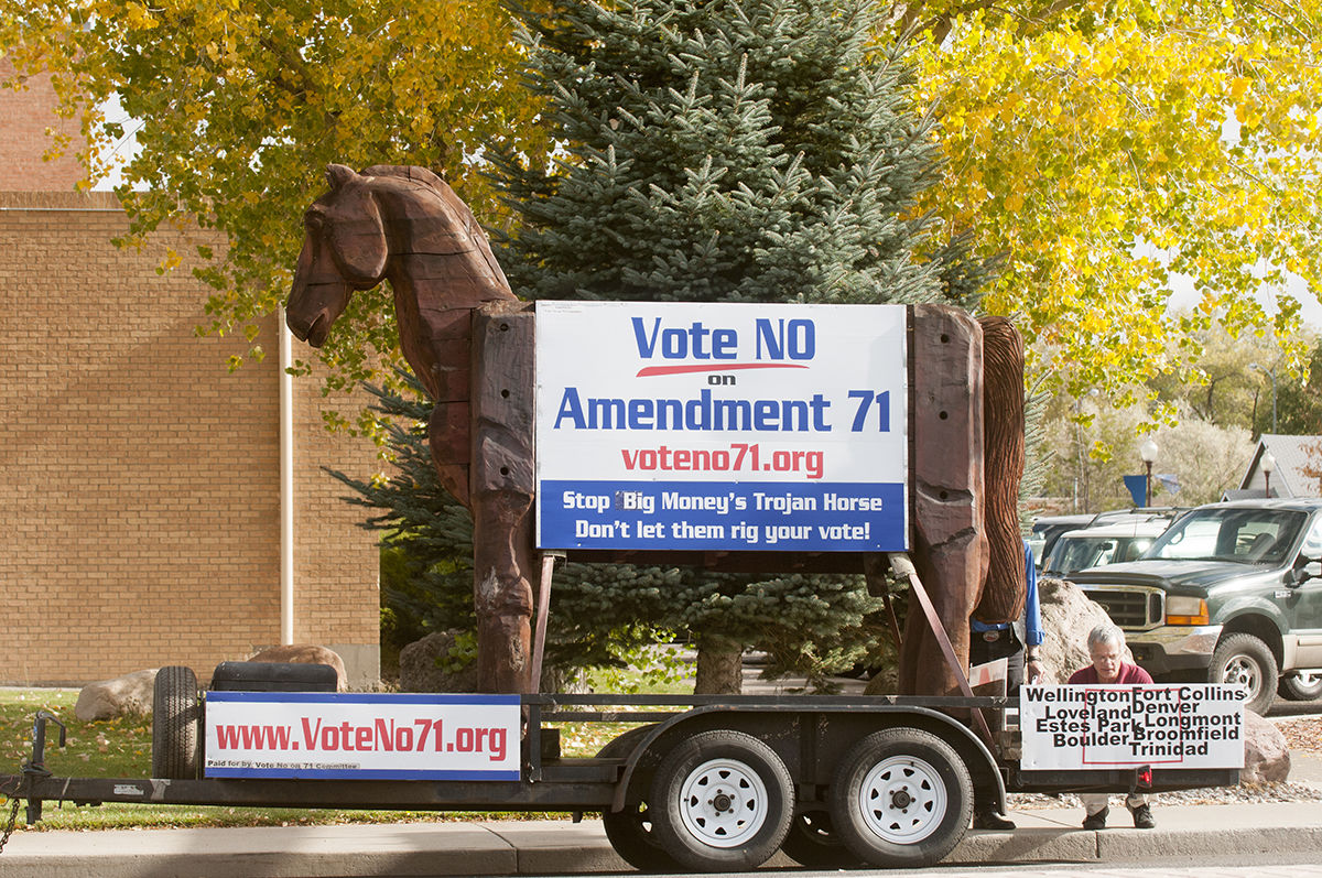 Trojan horse shows up in Montrose   Local News Stories ...