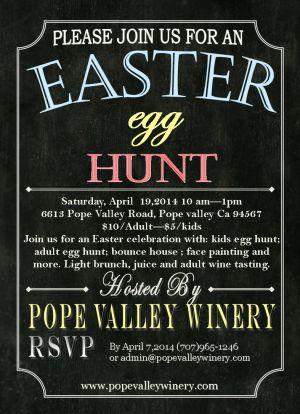 Pope Valley Winer Easter Egg Hunt