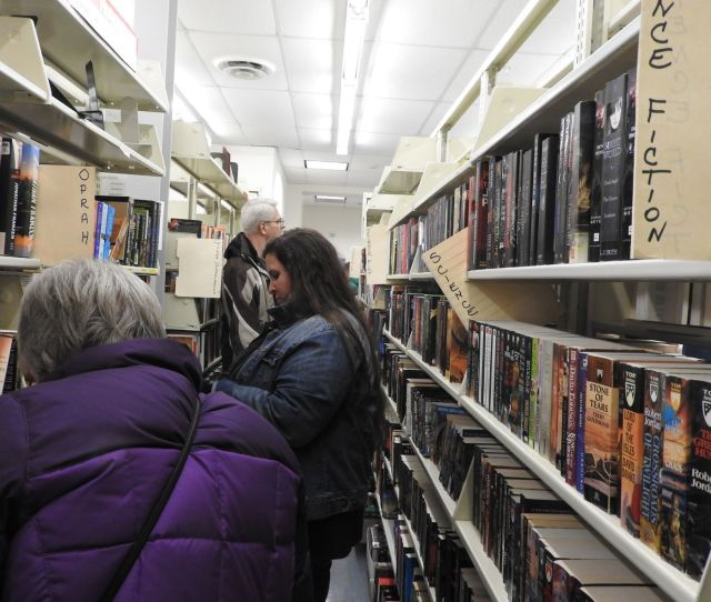 Science Fiction Aisle In The Fiction Room At The Crandall Library Book Sale Which Is Open Through Sunday Bill Toscano Photos Btoscanopoststar Com  E2 96 B3