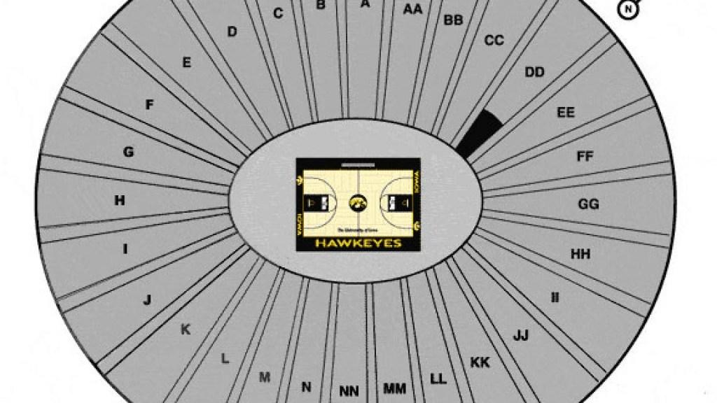 Carver Hawkeye Arena Seating Chart Iowa Hawkeyes