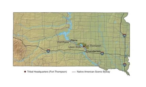 Located South Dakota Tribes