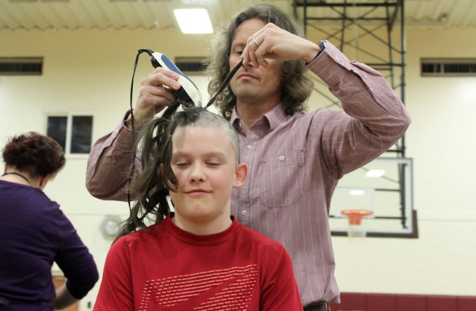 florence school and community donate hair to cancer patients