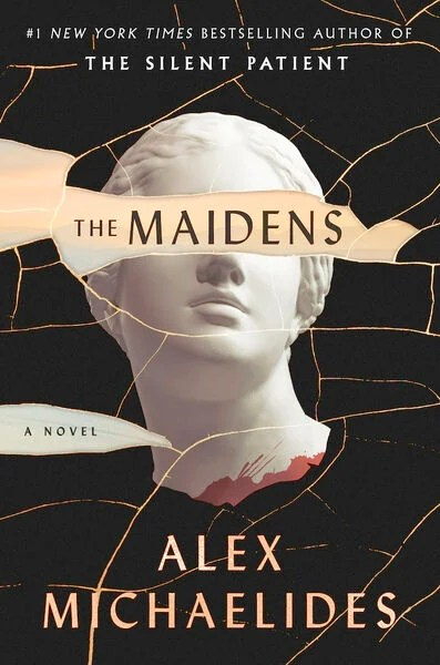 The Maidens book cover image from a June and July Reading Recap.