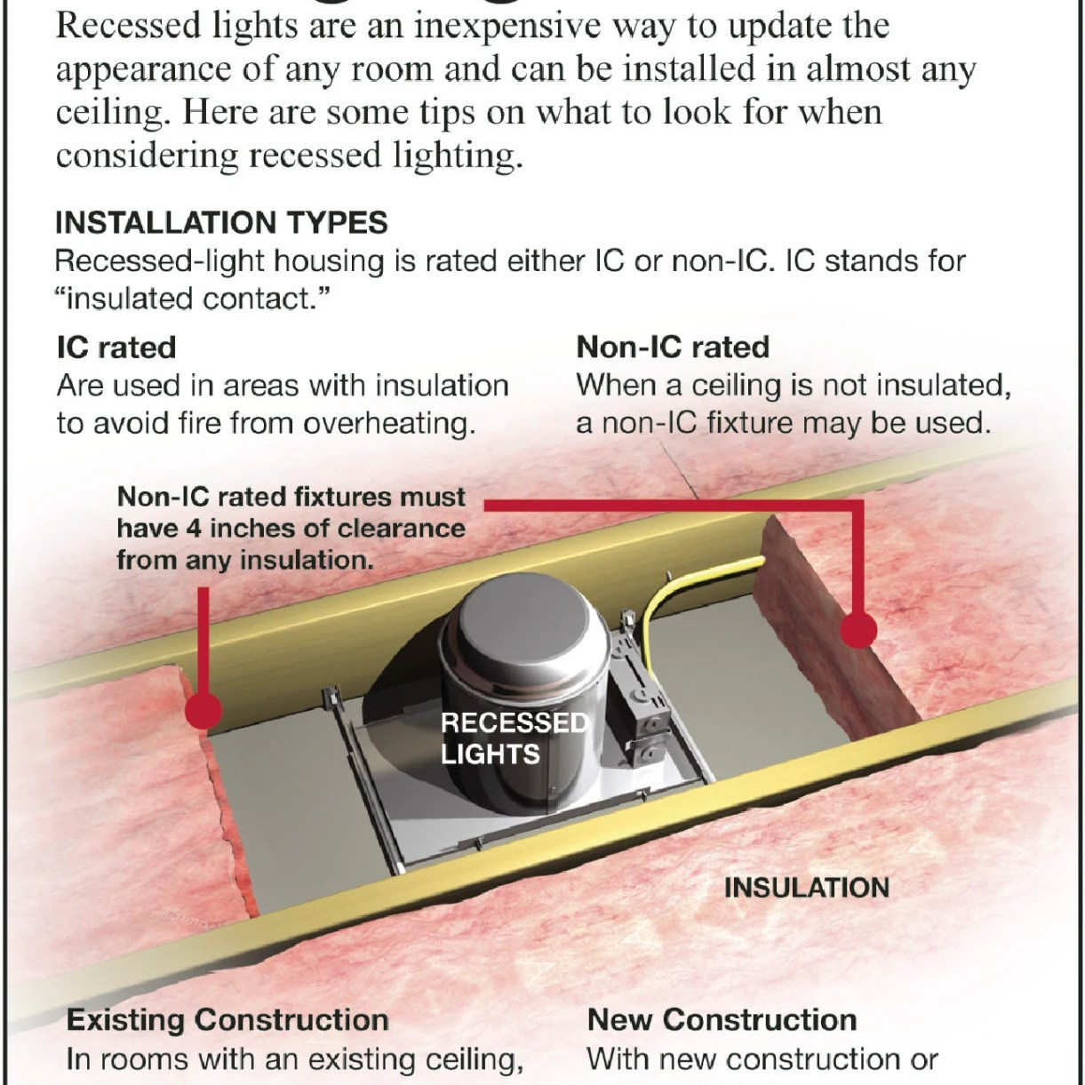 install recessed lighting in your home