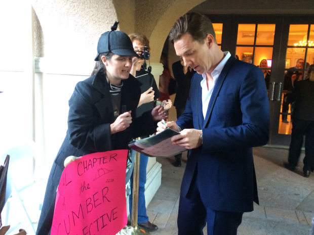 Cumberbatch and fan