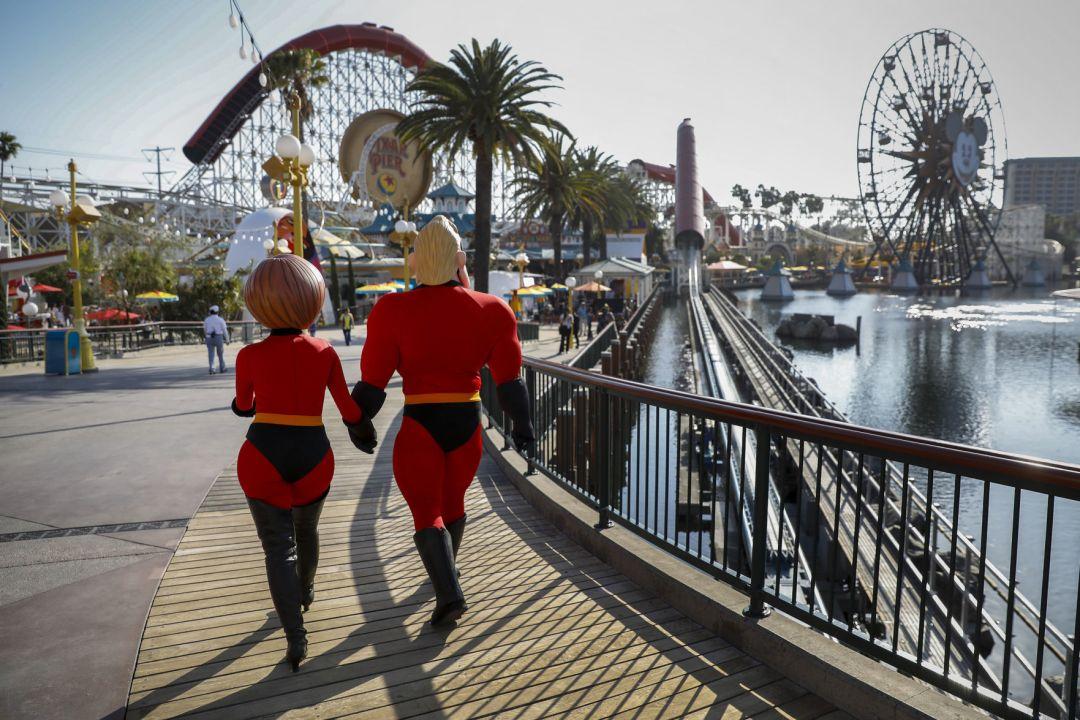 Pixar Pier Incredicoaster Disneyland