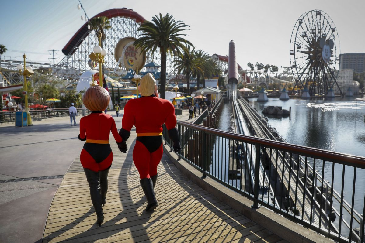 Pixar Pier Incredicoaster Disneyland