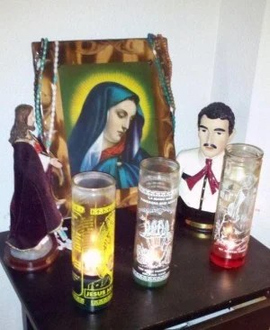 Arrest uncovers shrine to patron saint of drug trafficking