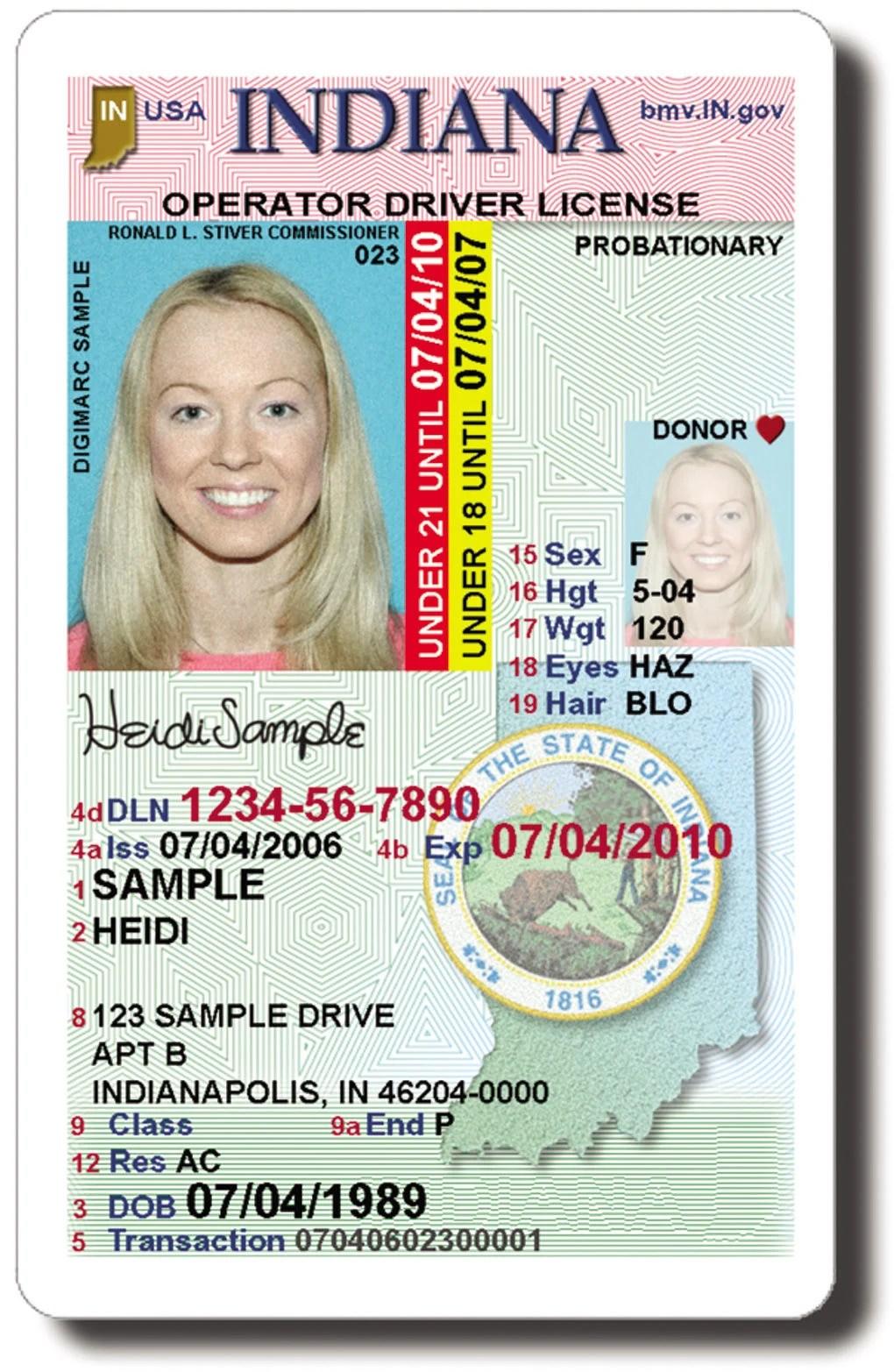 License Indiana Operator Driver
