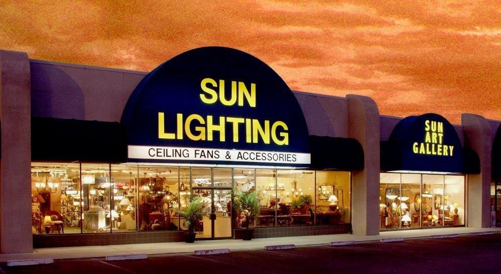 sun lighting lamps exterior