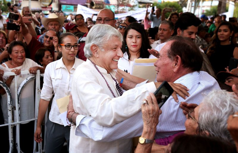 At nogales rally mexicos president elect says hell cut taxes nogales sonora at a rally friday night mexicos president elect andrs manuel lpez obrador promised to cut taxes and double the minimum wage in the m4hsunfo
