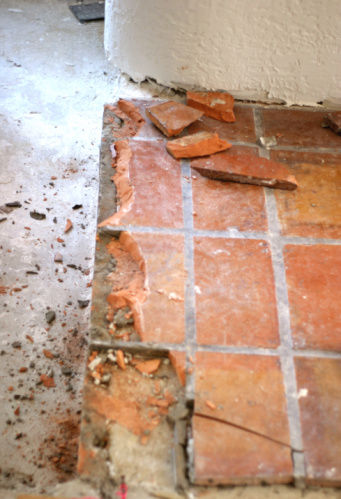 may have to remove saltillo tiles