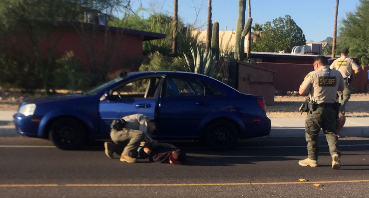 Pima County sheriff's sergeant shields runners from ...