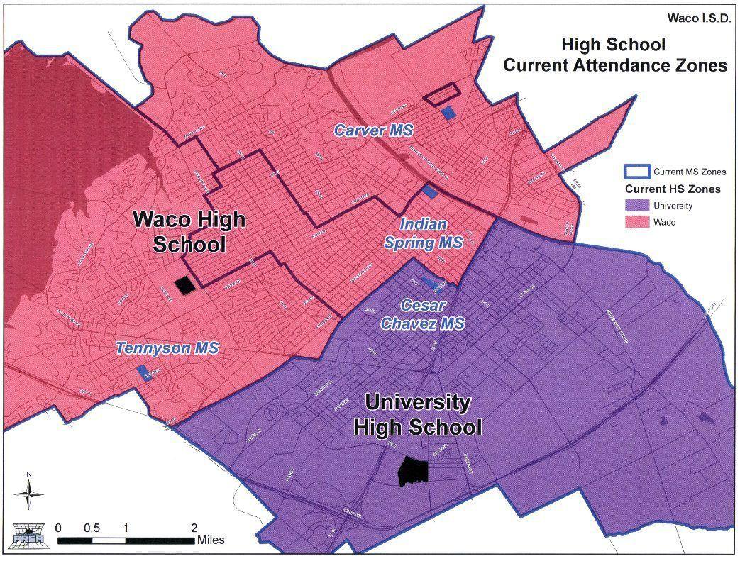 Texas Zones School Map