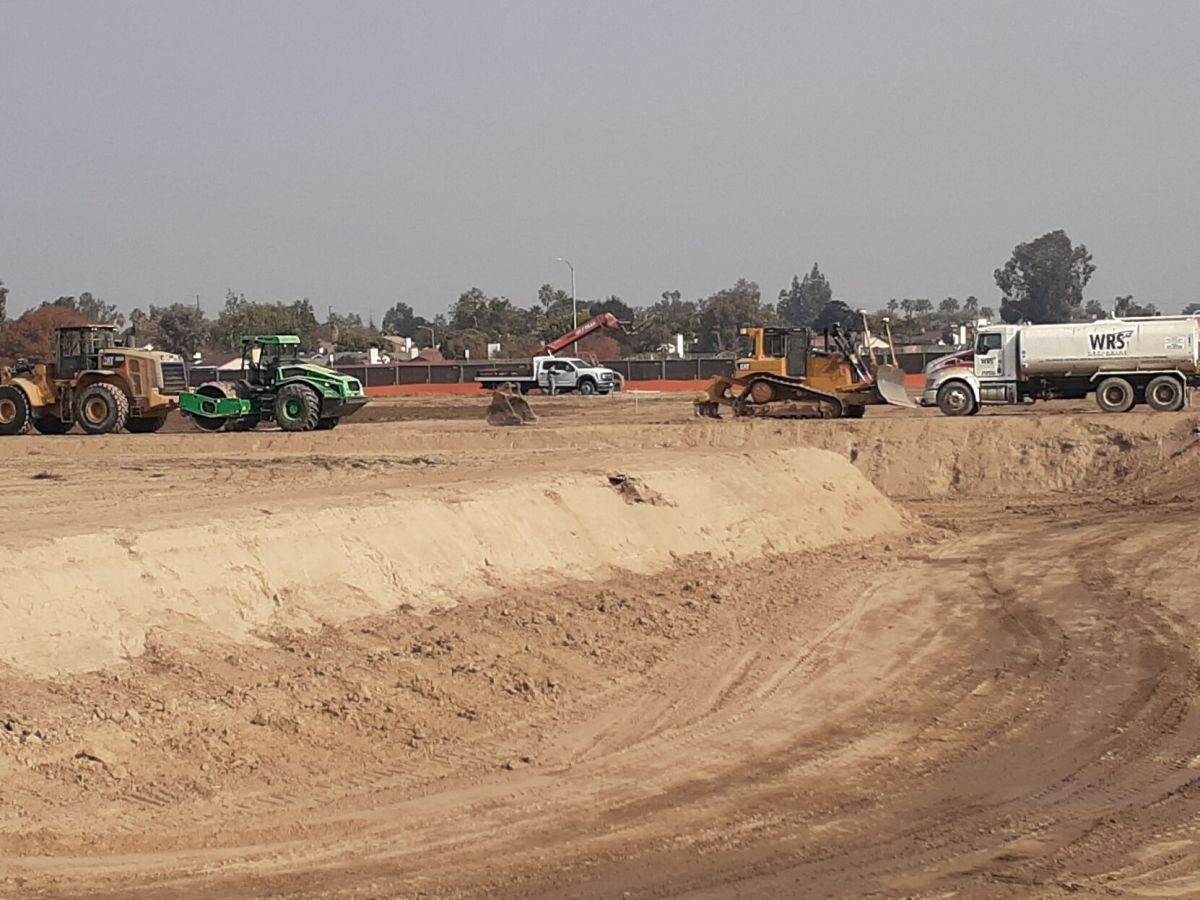 new shopping center begins construction