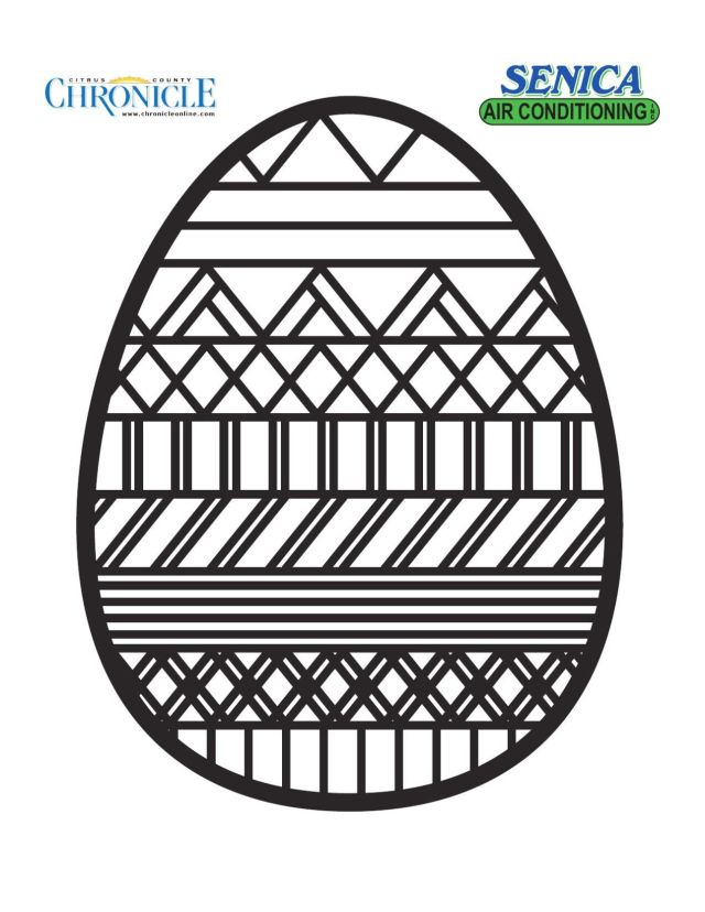 Neighborhood Easter Egg Coloring Pages  Community